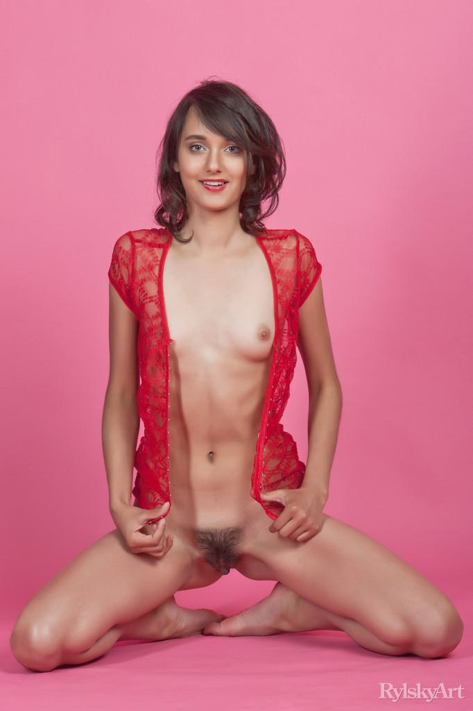 Gorgeous young girl with hairy pussy - Chandra - 5