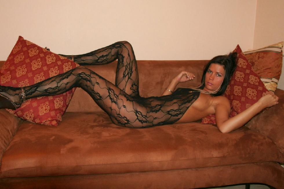 Tanned brunette in sexy bodystocking - Svetlana - 3