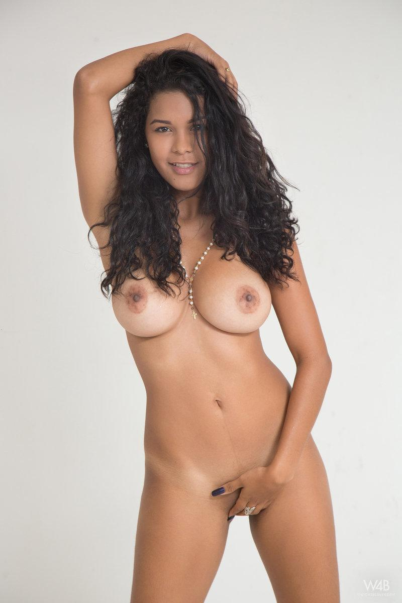 Naked girls with curly hair latina