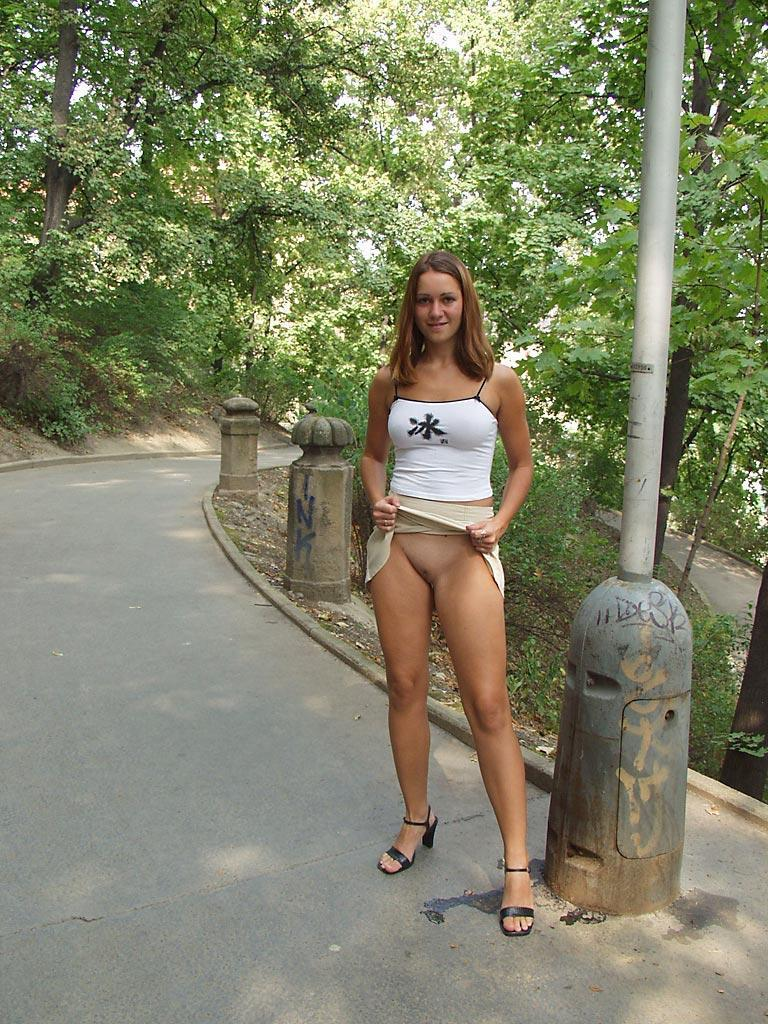 Once again nude in public places - Ivette - 1