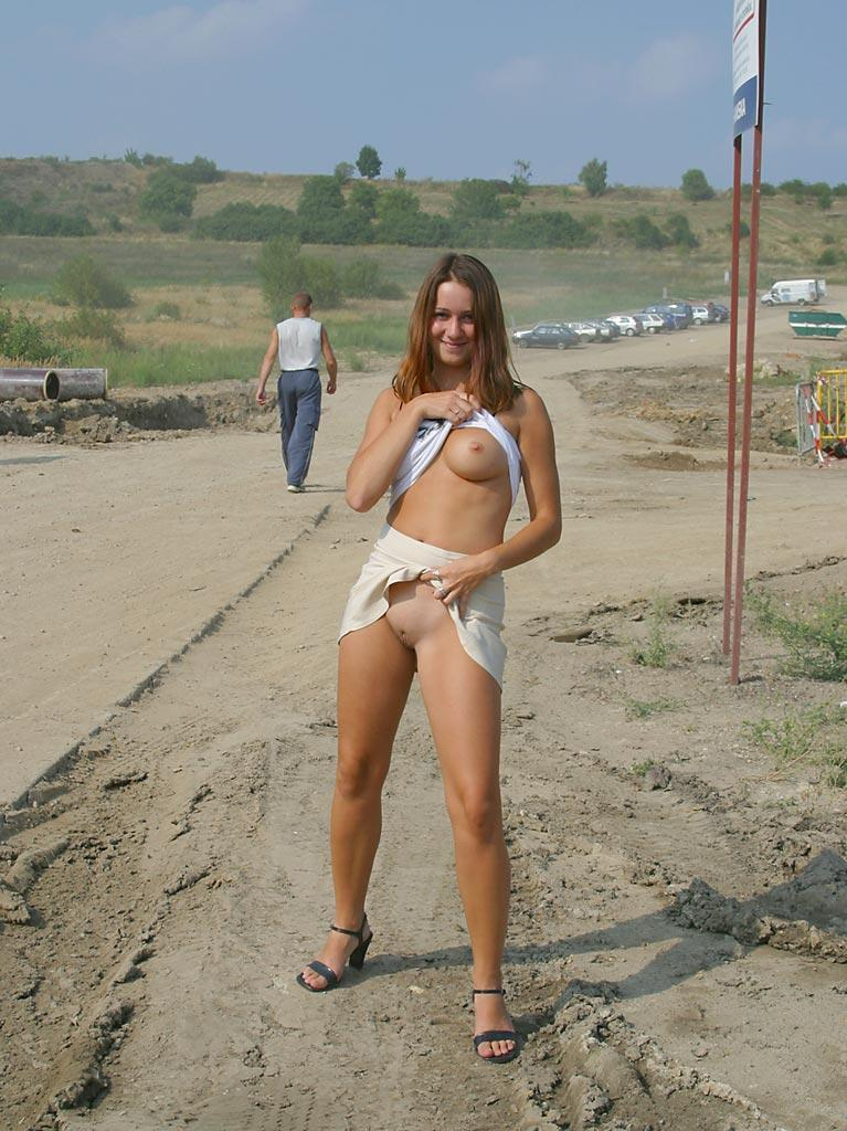 Once again nude in public places - Ivette - 7