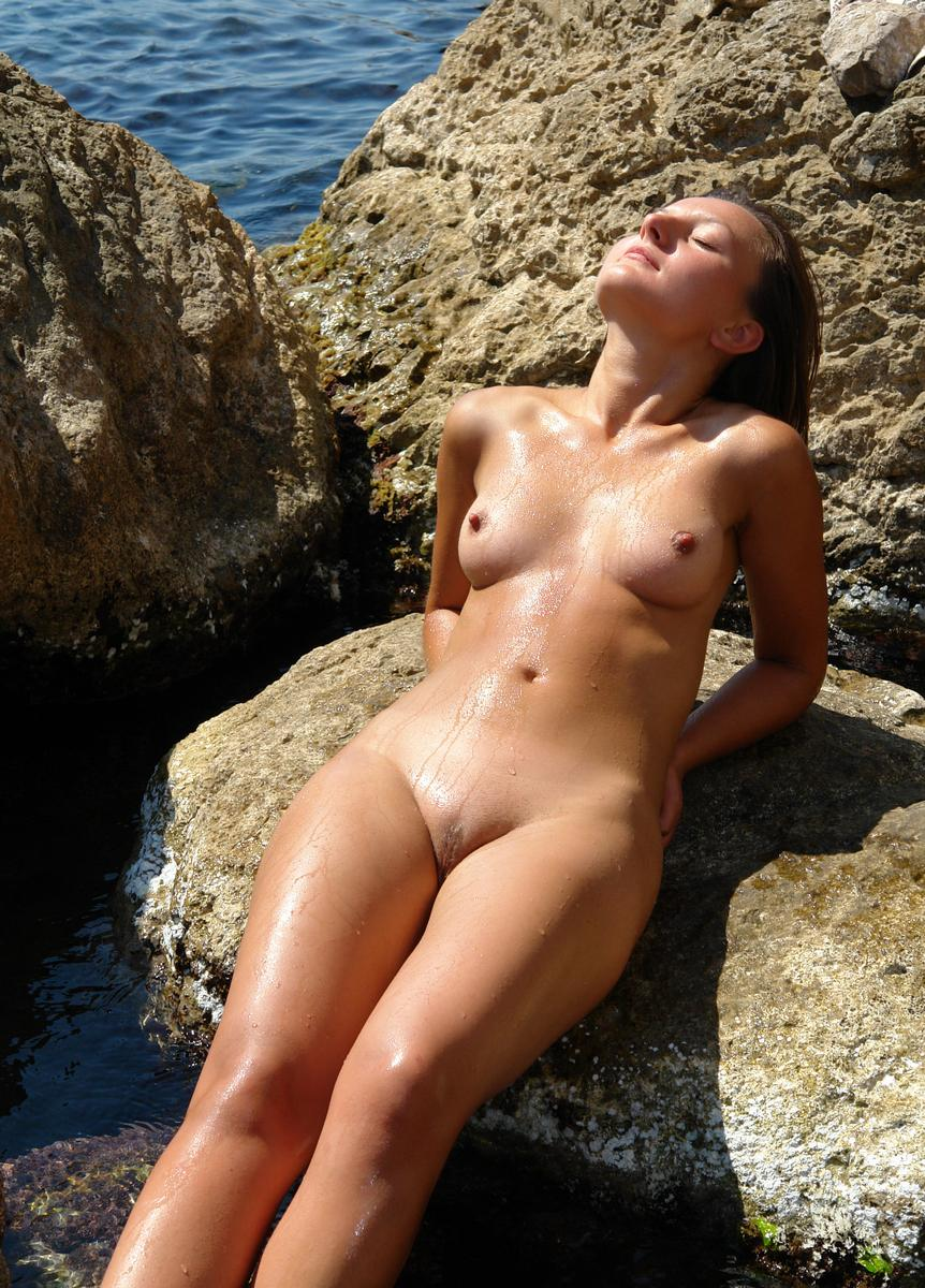 Wife naked on vacation