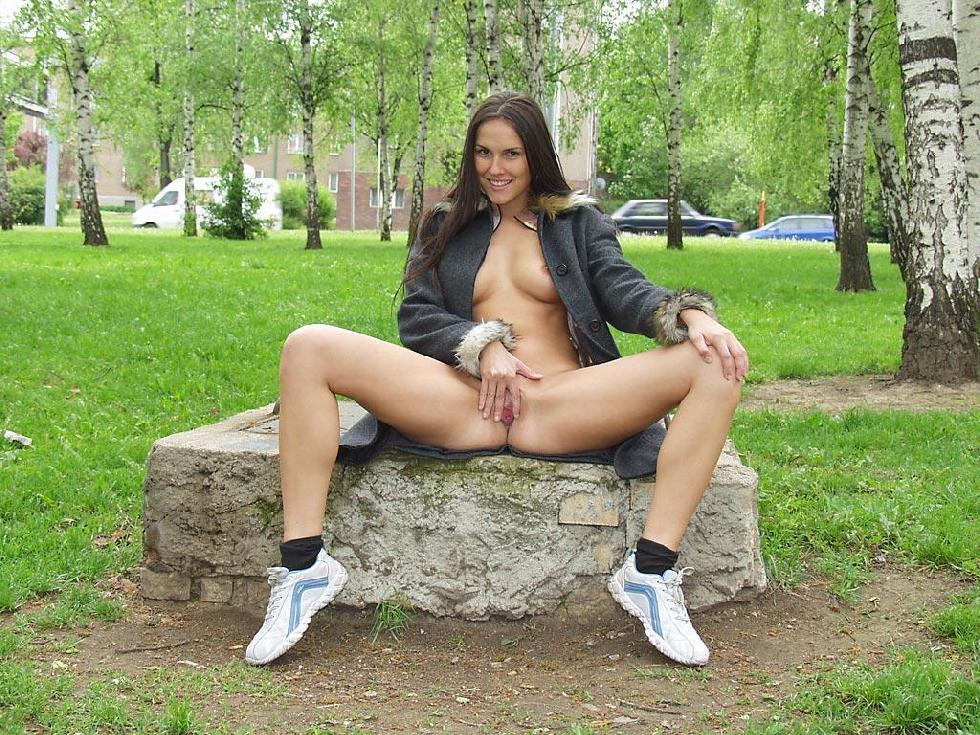 Amateur is showing her pussy public - Zuzanna. Part 1 - 16