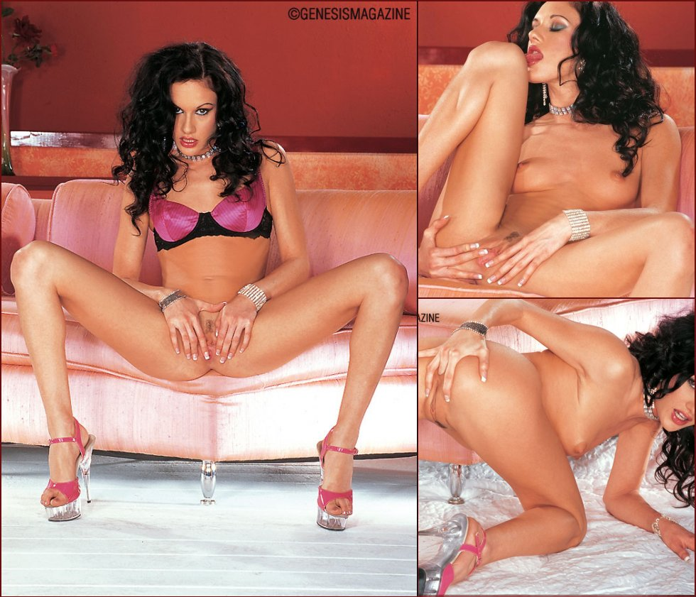 Horny brunette with beautiful long legs - Taylor Rain - 69