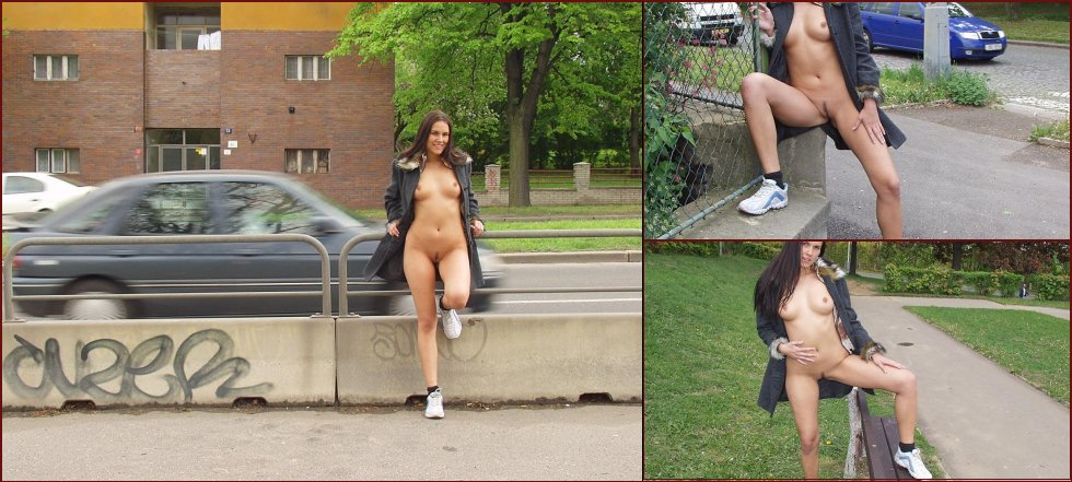 Amateur is showing her pussy public - Zuzanna. Part 2 - 2