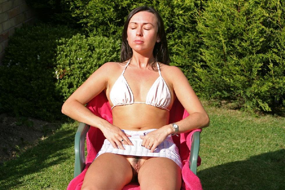 Sunbathing on a towel - 1
