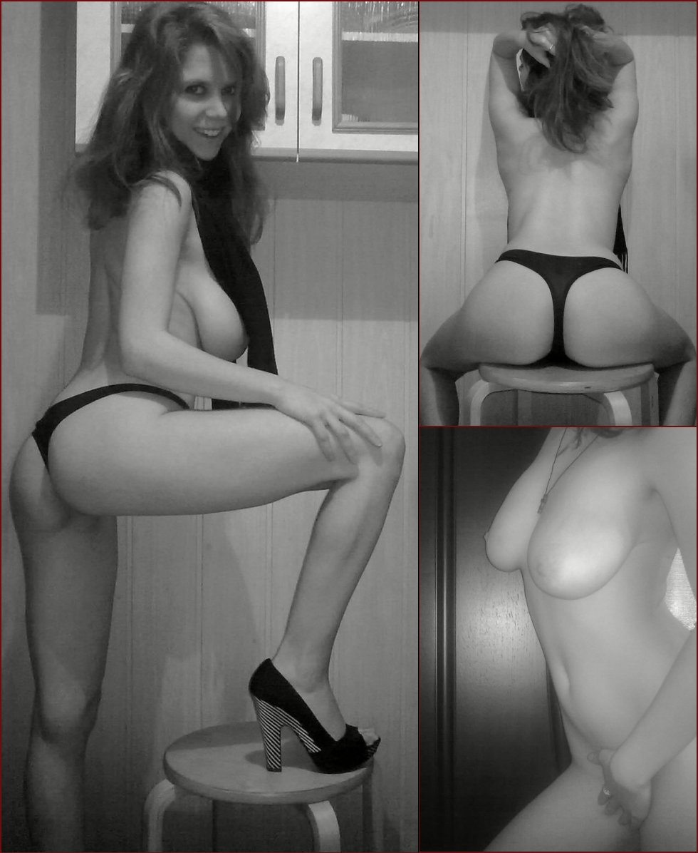 Black and white session with hot wife - 18