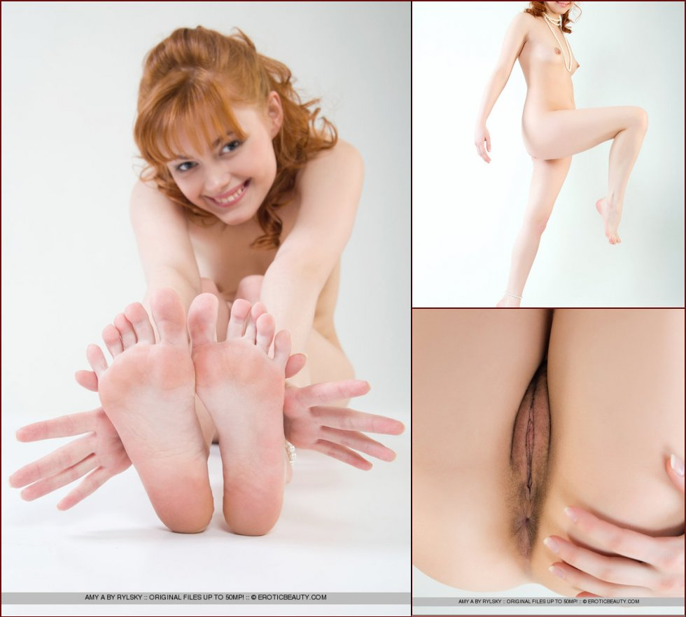 Cute naked girl with red hair - Amy - 25