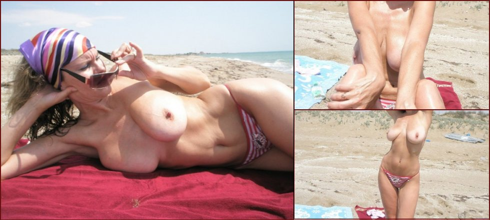 MILF has relaxing time on the beach - 45