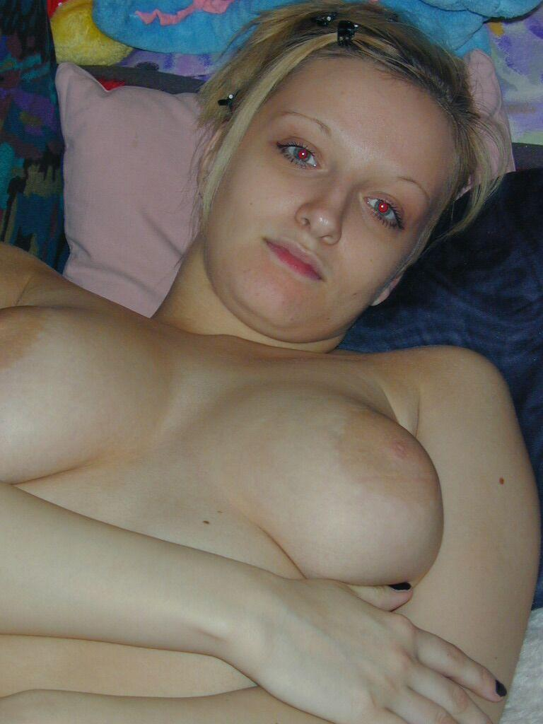 Blonde wife with big natural boobs - 14