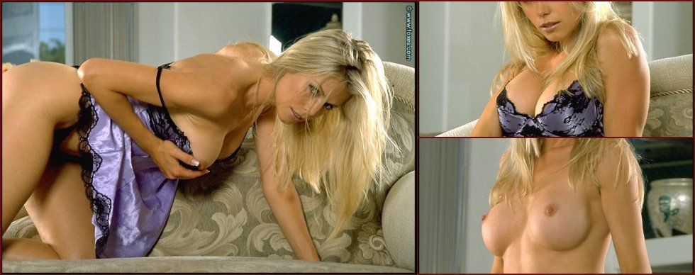 Very hot blonde strips sexy nightie - Anna Marie Goddard - 35