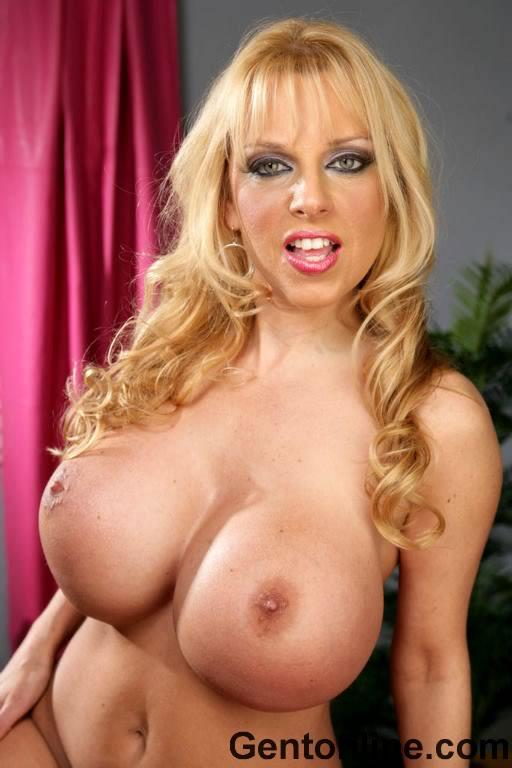 Milf with enormous tits uses her blue vibrator - Michelle - 7