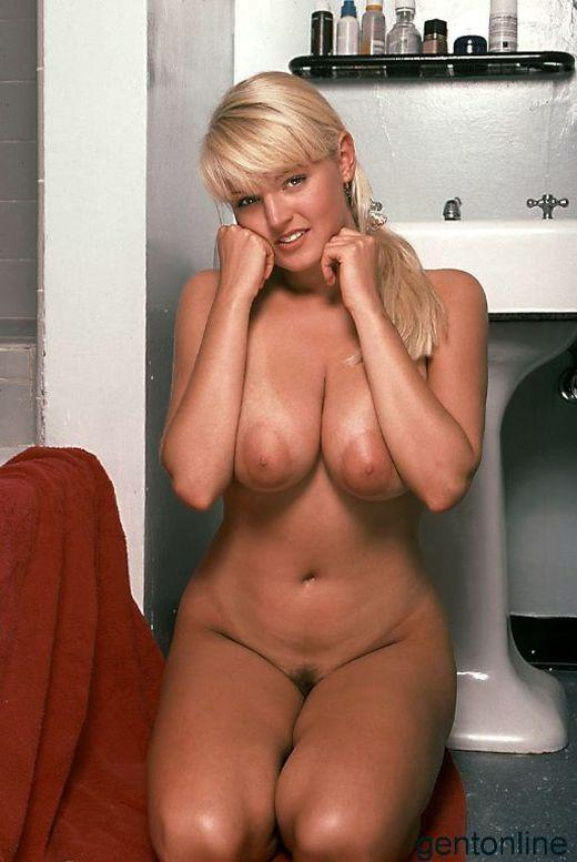 Bathroom fun with busty blonde mom - Sandra - 11