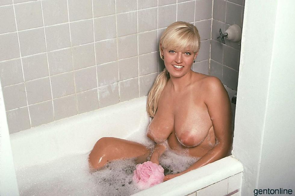 Bathroom fun with busty blonde mom - Sandra - 12