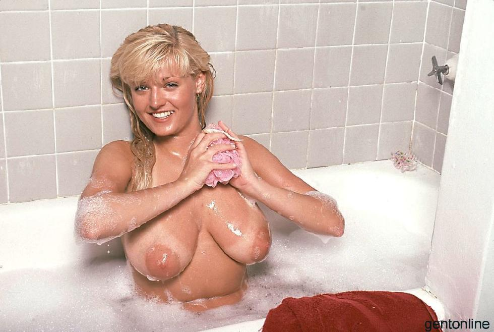 Bathroom fun with busty blonde mom - Sandra - 14