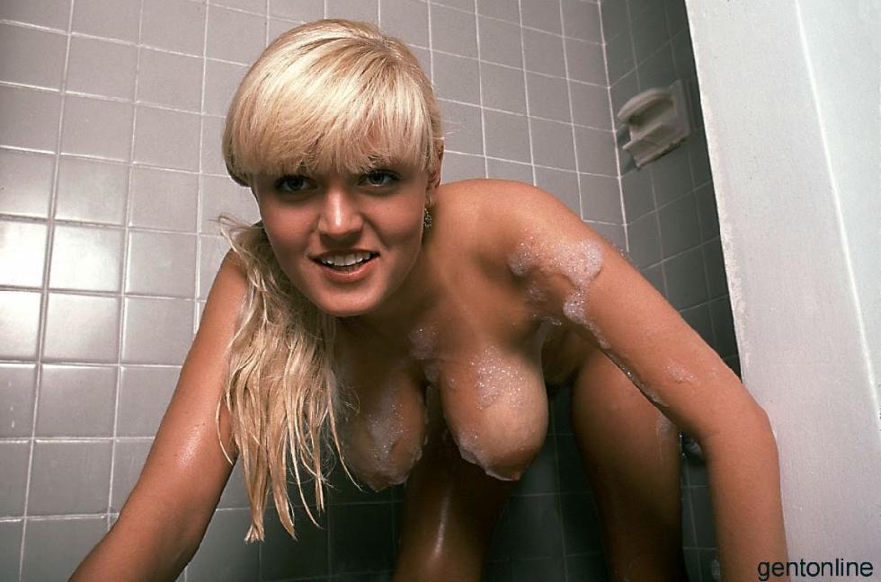 Bathroom fun with busty blonde mom - Sandra - 16