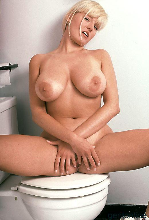 Bathroom fun with busty blonde mom - Sandra - 6