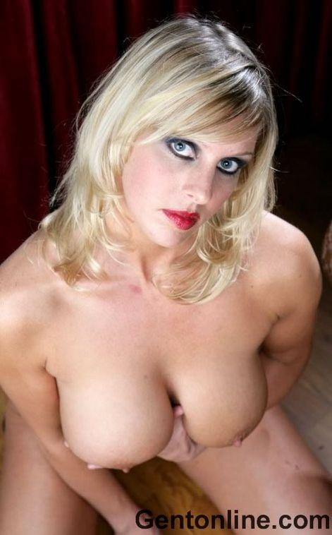 Blonde MILF named Renee is showing off her big rack - 11