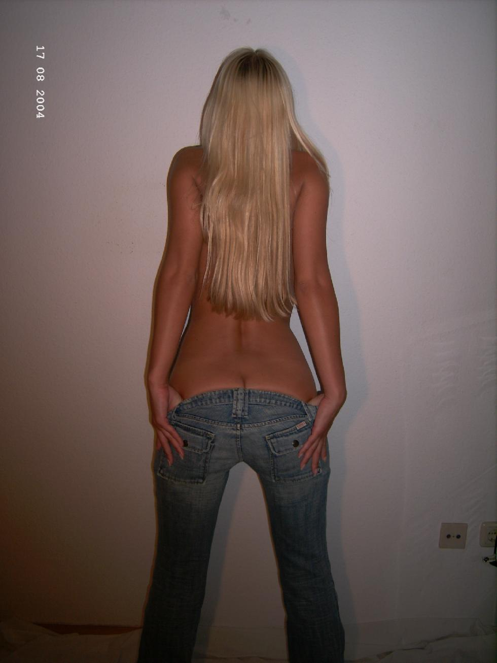 Anonymous blonde shows tanned ass - 2