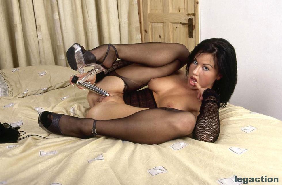 Wild brunette in hot bodystocking - Becky - 10