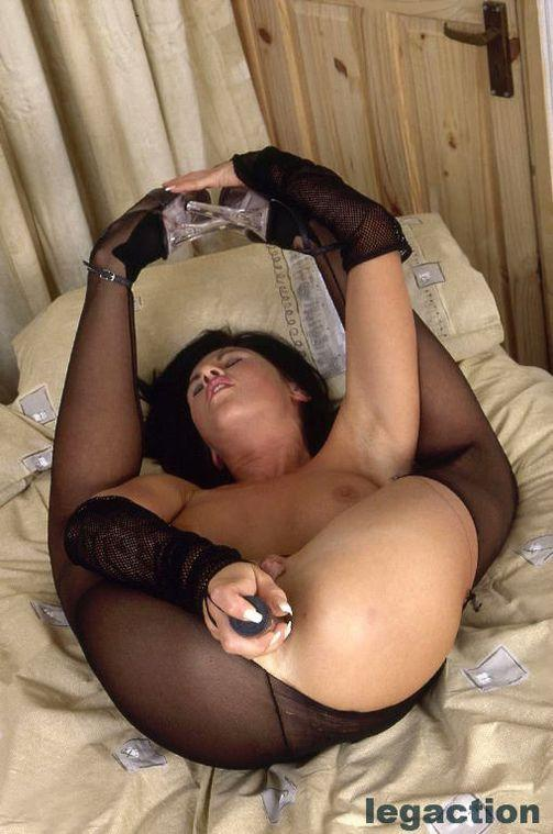 Wild brunette in hot bodystocking - Becky - 13