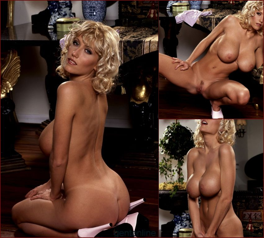 Blonde MILF named Stephanie uses her purple dildo - 75