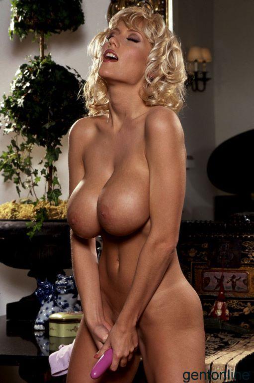 Blonde MILF named Stephanie uses her purple dildo - 8