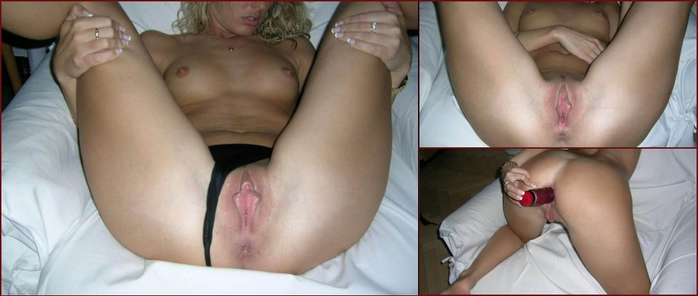 Anonymous blonde likes in both holes - 82