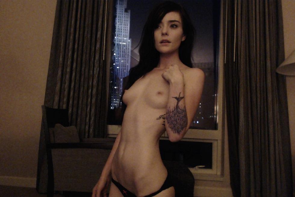 Tattooed brunette in lingerie - 13