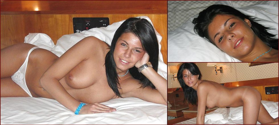 Wonderful tanned girl shows great body - 1