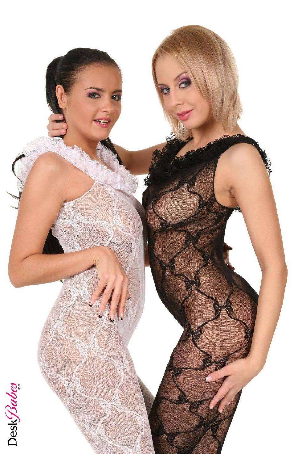 two hot babes in sexy bodystocking - mandy dee and candy alexa (16