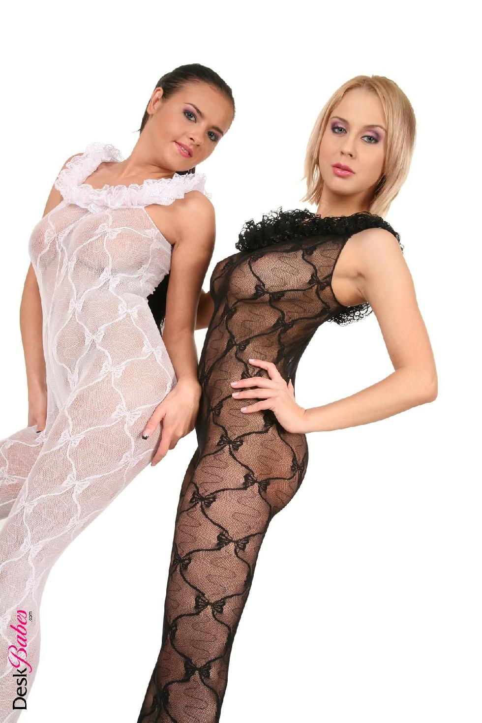 Two hot babes in sexy bodystocking - Mandy Dee and Candy Alexa - 4