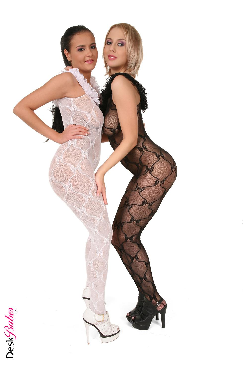 Two hot babes in sexy bodystocking - Mandy Dee and Candy Alexa - 5