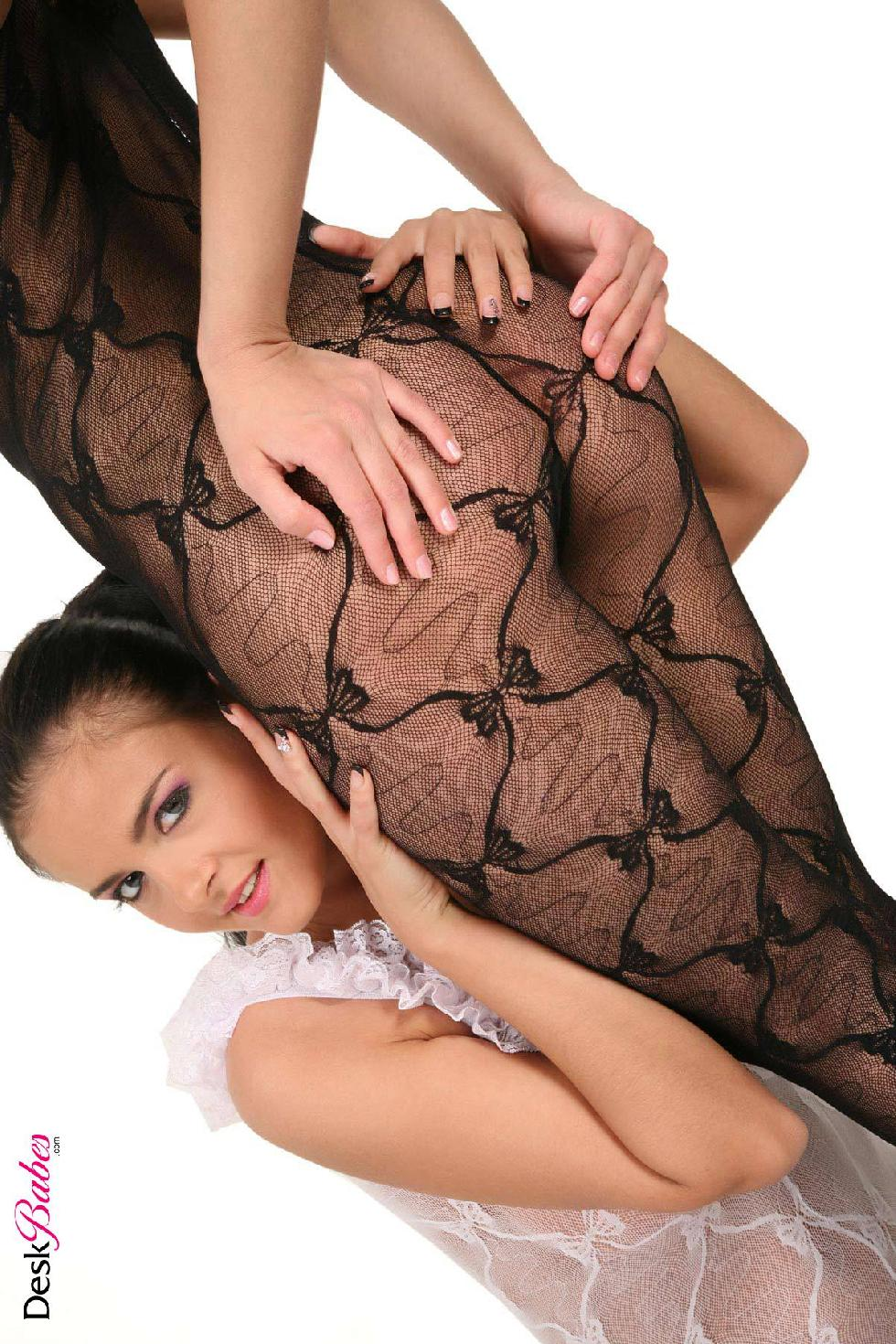 Two hot babes in sexy bodystocking - Mandy Dee and Candy Alexa - 7