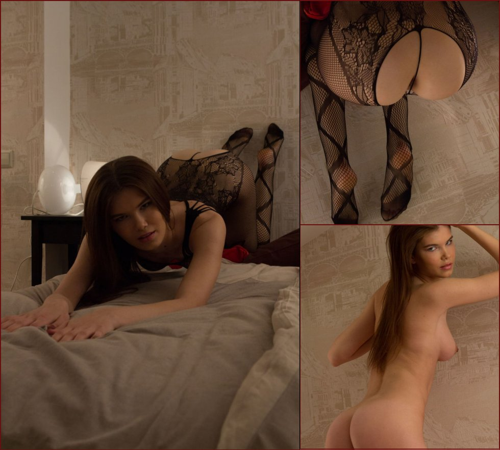 Sensual Baiba is tempting in black bodystocking - 44