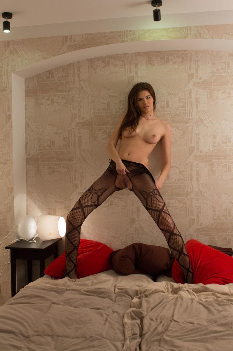 Sensual Baiba is tempting in black bodystocking - 9
