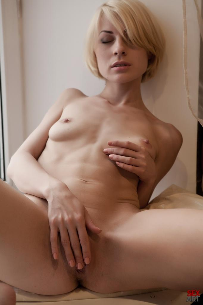 Tiny Avrora is touching her pussy - 12
