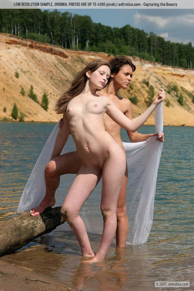 Tiny naked girls on the beach - Nusia & Anna - 10