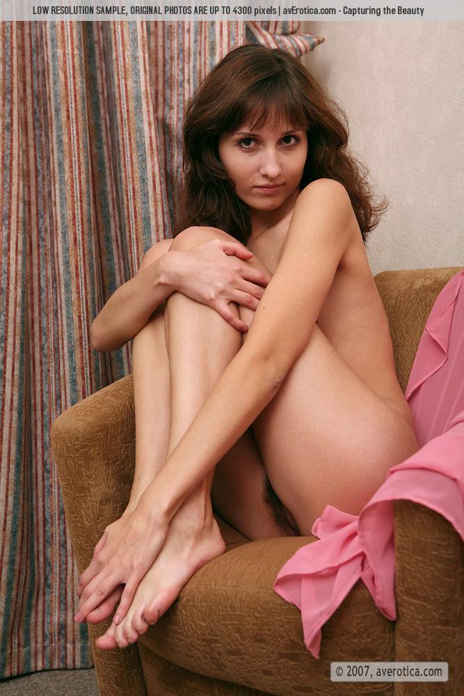 Naked tiny girl with hairy pussy - Malina - 10