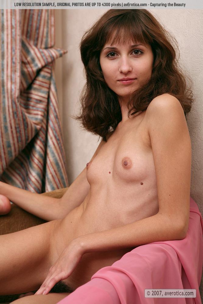 Naked tiny girl with hairy pussy - Malina - 12
