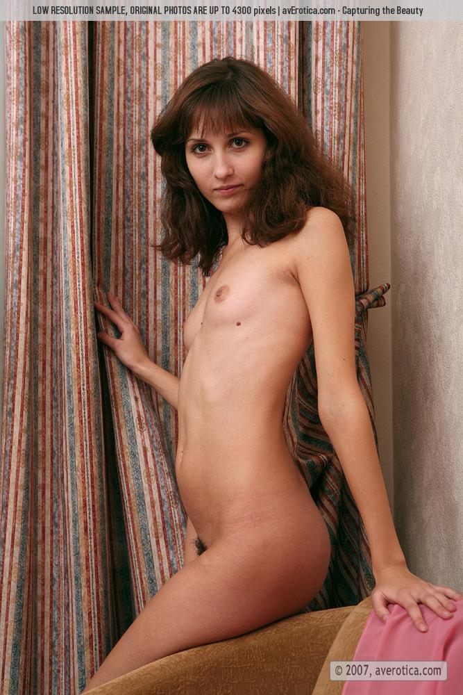 Naked tiny girl with hairy pussy - Malina - 4
