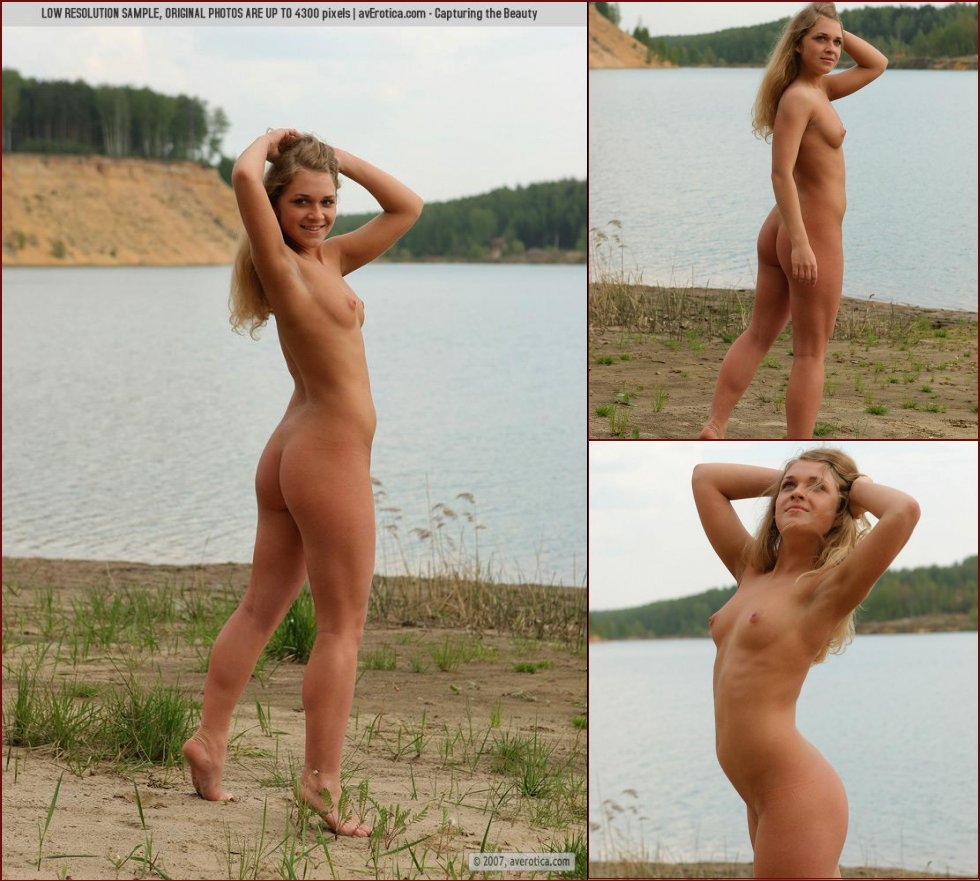 Naked Yana on the beach - 36