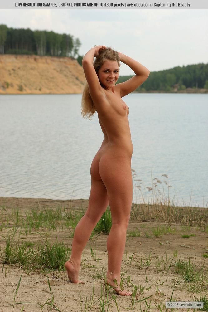 Naked Yana on the beach - 1