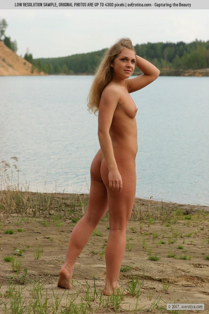 Naked Yana on the beach - 2