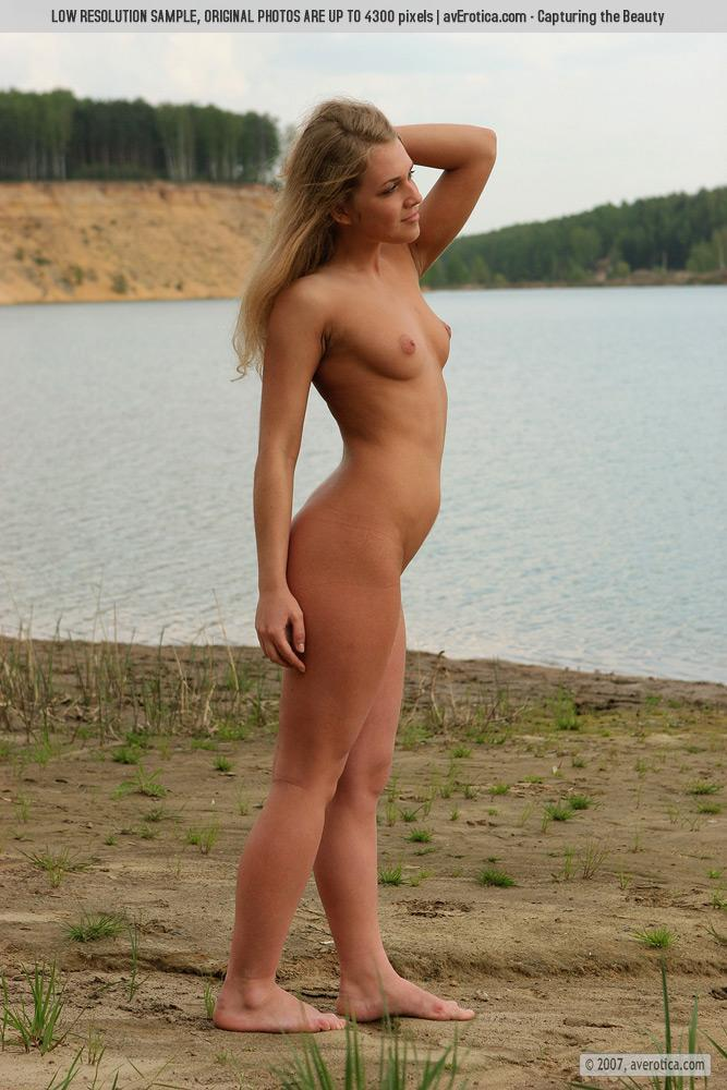 Naked Yana on the beach - 3