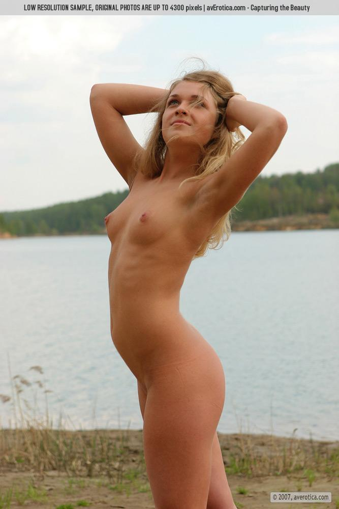 Naked Yana on the beach - 4