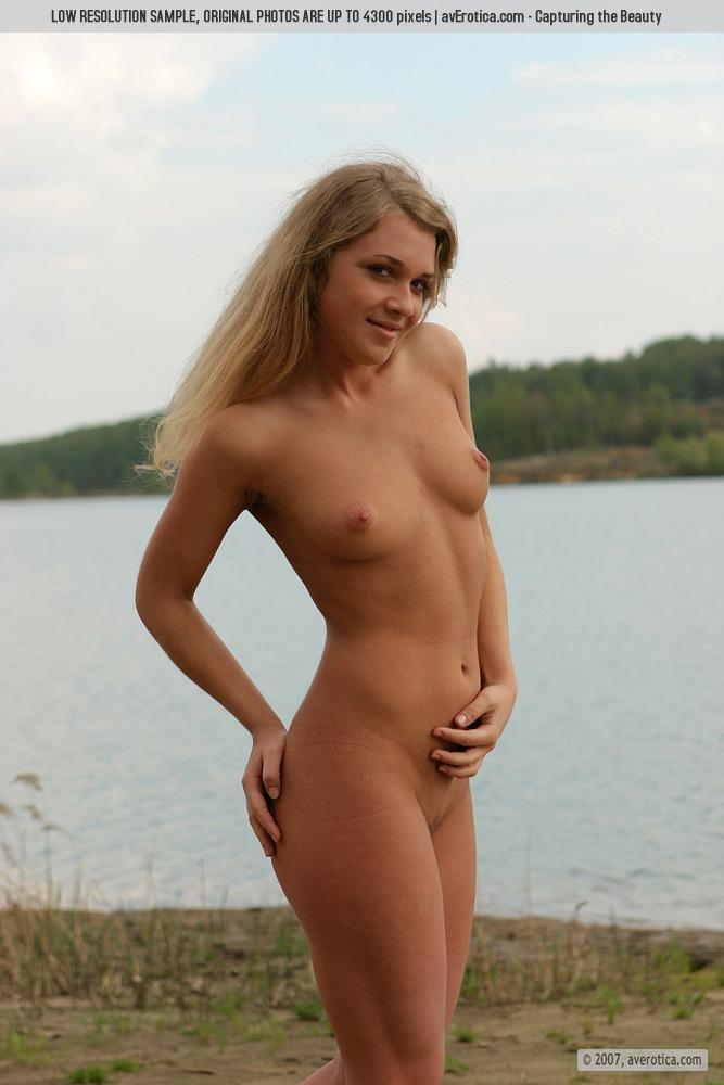 Naked Yana on the beach - 6