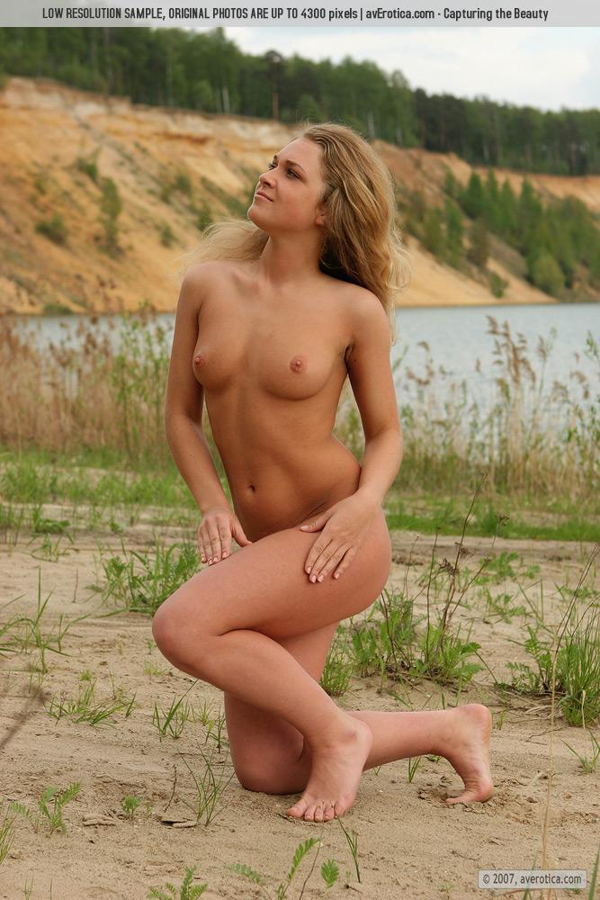 Naked Yana on the beach - 8
