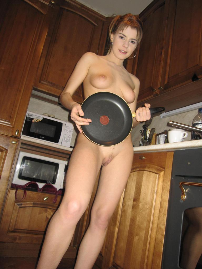 Horny blonde in the kitchen - 15