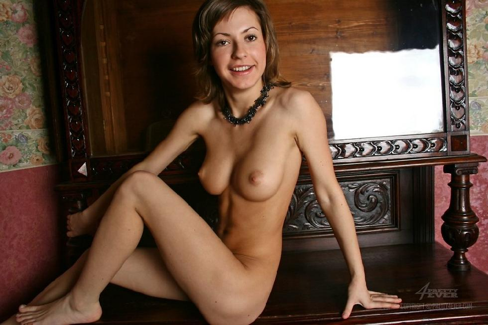 Lovely Dasha is posing naked on an antique furniture - 10
